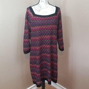 Lane Bryant Striped Knit Shealth Dress Size 14/16